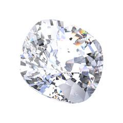 3D illustration isolated asscher diamond stone
