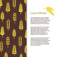 Wheat ears bread banner template. Grains flyer design