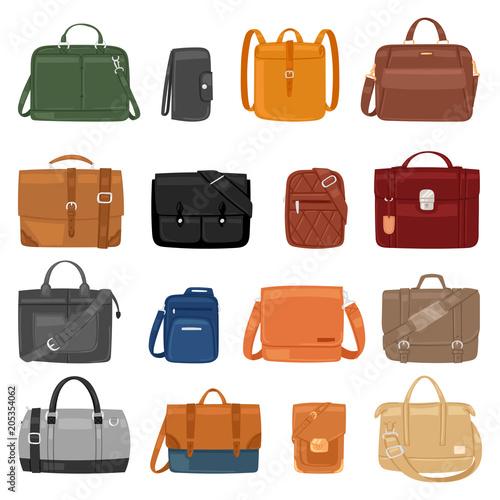 Man bag vector men fashion handbag or business briefcase and leather  notecase of businessman illustration manlike bf9b0acbd1