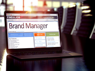 Job Opening Brand Manager. 3D.