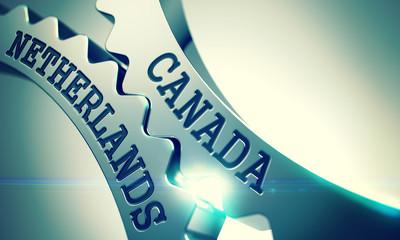 Canada Netherlands - Mechanism of Metal Cog Gears. 3D.