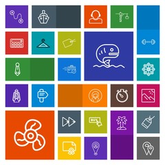 Modern, simple, colorful vector icon set with lady, office, map, male, player, landscape, sign, web, fish, pin, sea, sitting, road, travel, girl, wheel, helm, fashion, fan, location, woman, buy icons