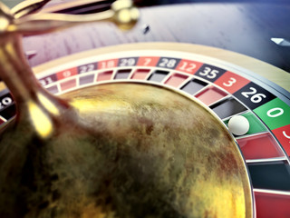throw on roulette wheel in online casino table
