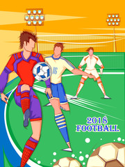 Football player playing Soccer Tournament