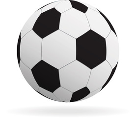 Vector soccer ball icon. Isolated on white background