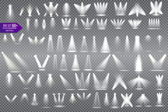 Set Scene illumination , special light effects isolated on transparent background.