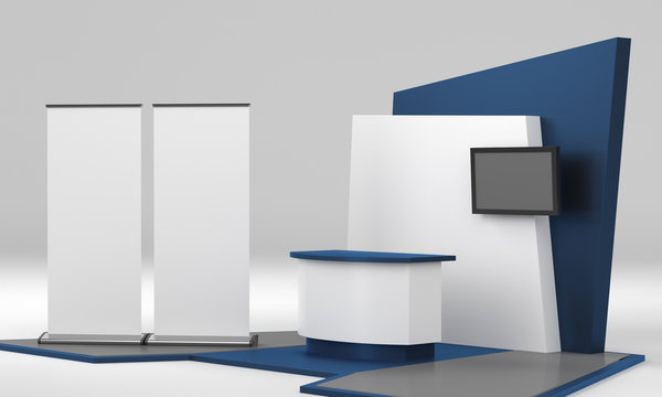 Fair Trade Booth, or Kiosk. stand design in exhibition