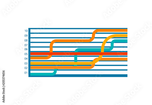 infographic with numbers lines vector illustration fotolia com の