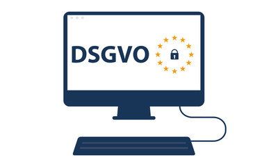 PC DSGVO auf Monitor