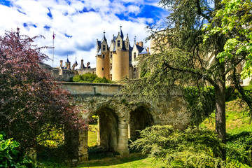 Medieval castles of Loire valley - beautiful Montreuil-Bellay. France