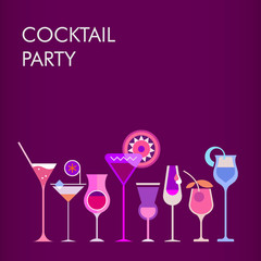 Cocktail Party vector background
