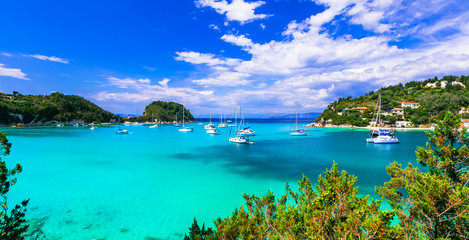 Gorgeopus Ionian islands of Greece - Paxos with turquoise waters and picturesque bay Wall mural