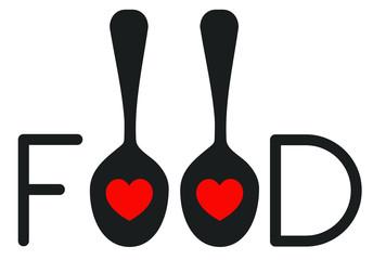 Romantic Food Word Logo Design