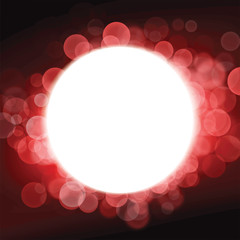 Red Christmas background with a big white light
