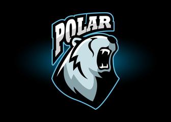 Angry Polar Bear Mascot Logo