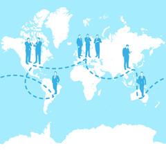 globalization business concept illustration