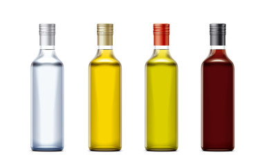 Bottles mockups for oil and other foods