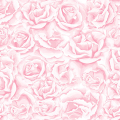 Vector realistic rose bouquet seamless pattern