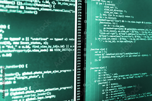 Background of software developer script  Coding hacker