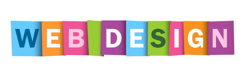 """""""WEB DESIGN"""" vector letters icon"""