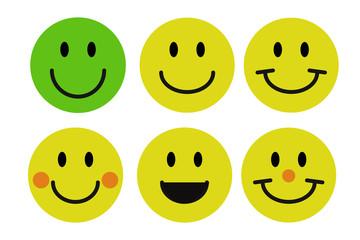 Felicidad en emoticonos.