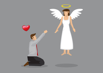 Begging for Love Vector Illustration