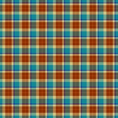 Brown and blue seamless tartan gingham checkered checked design pattern