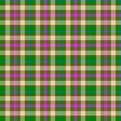 Beautiful tartan gingham checkered traditional seamless green pattern