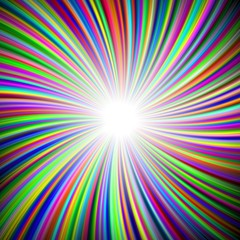 Graphic radial colorful rainbow brighly colored happy cheerful converge beams image
