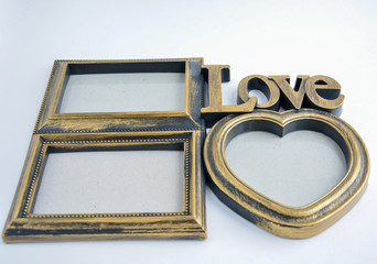 """Frame for photos with the word """"Love"""""""
