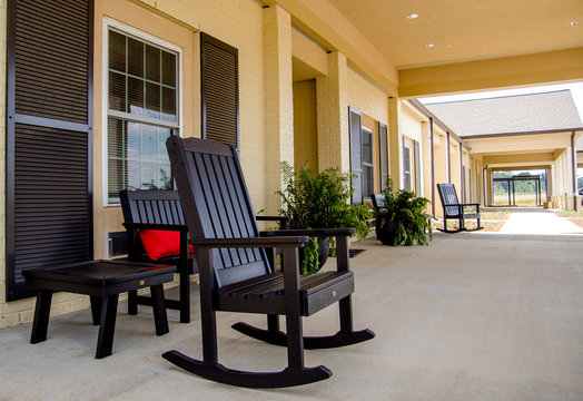 Rocking Chair on Porch of Nursing home