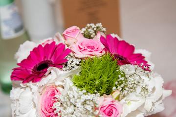 Brautstrauss pink rosa weiss