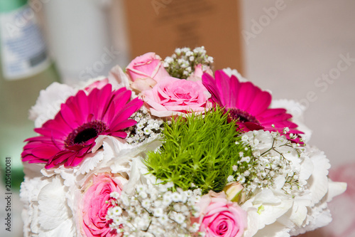Brautstrauss Pink Rosa Weiss Stock Photo And Royalty Free Images On