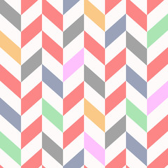 colorful Seamless chevron pattern, beautiful vector illustration