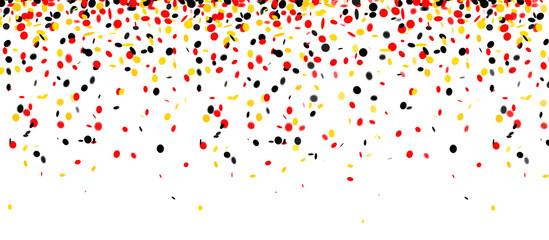 Konfetti Banner Trikolore National Farben schwarz, rot, gold, gelb