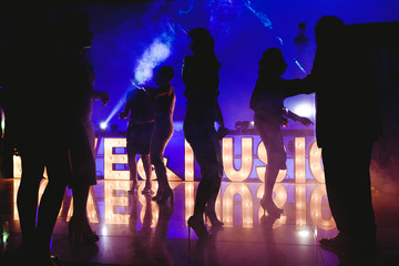 People partying dancing