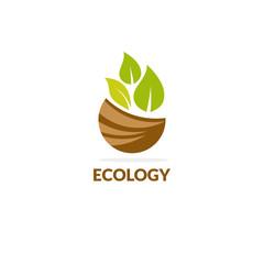 leaf ecology vector logo