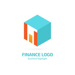 Illustration of business logotype bidding and auction.