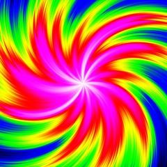 Infra shocking dynamic motion swirl wheel happy neon colored image