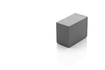 grey cube isolated on white background