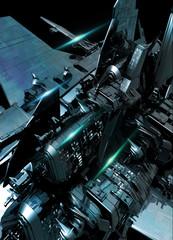 Detail of large spaceship