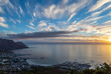 Along the Cape Peninsula at Sunset, viewed from Lion's Head Mountain
