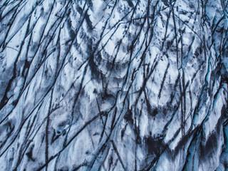 Icelandic melting glacier
