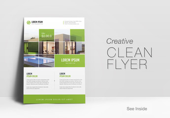 Flyer Layout with Green Accents