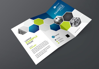 Brochure Layout with Blue and Green Accents