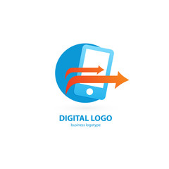 Logo design abstract digital technology vector template.