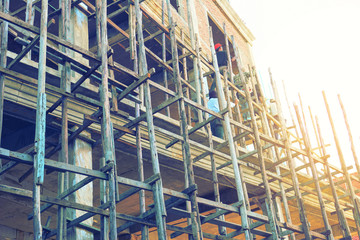 Construction industry Carpenters and carpenters are working in high angles that are dangerous and risky.