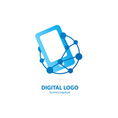 Illustration design of logotype business web marketing.