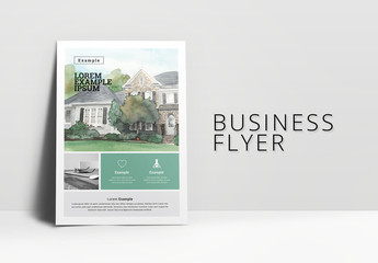 Teal and Gray Flyer Layout