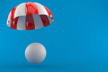 Golf ball with parachute